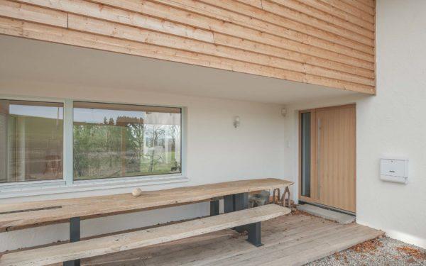 Holzverkleidung der Außenfassade