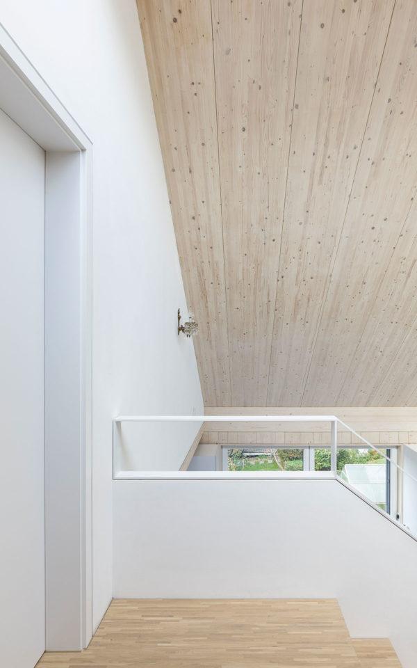 Verputzte Holzwand im Vollholzhaus